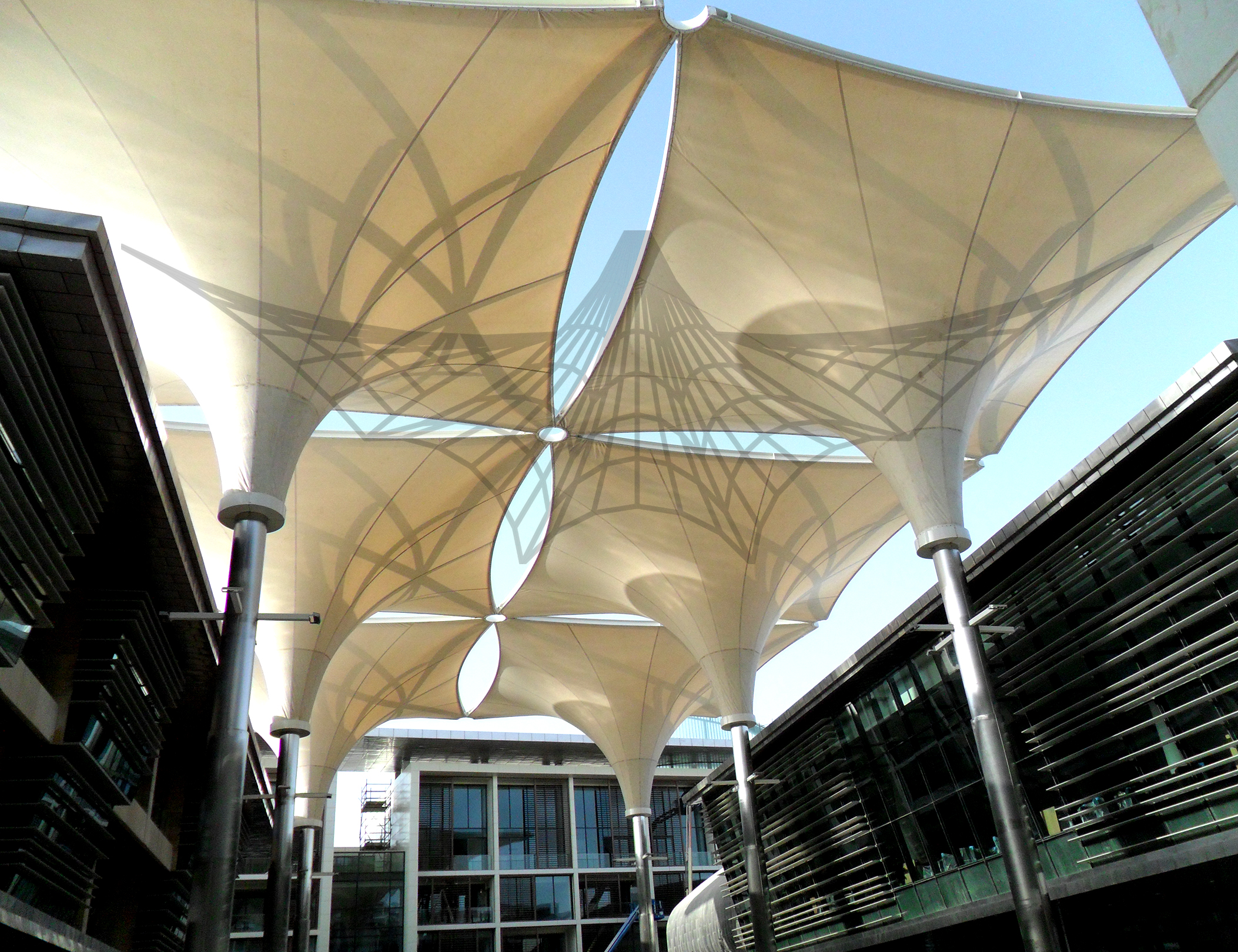 Technology expo would like to hire event staff to erect huge tensile structure.